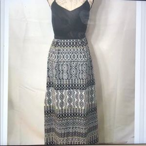 J. Crew Factory Maxi Dress with printed skirt